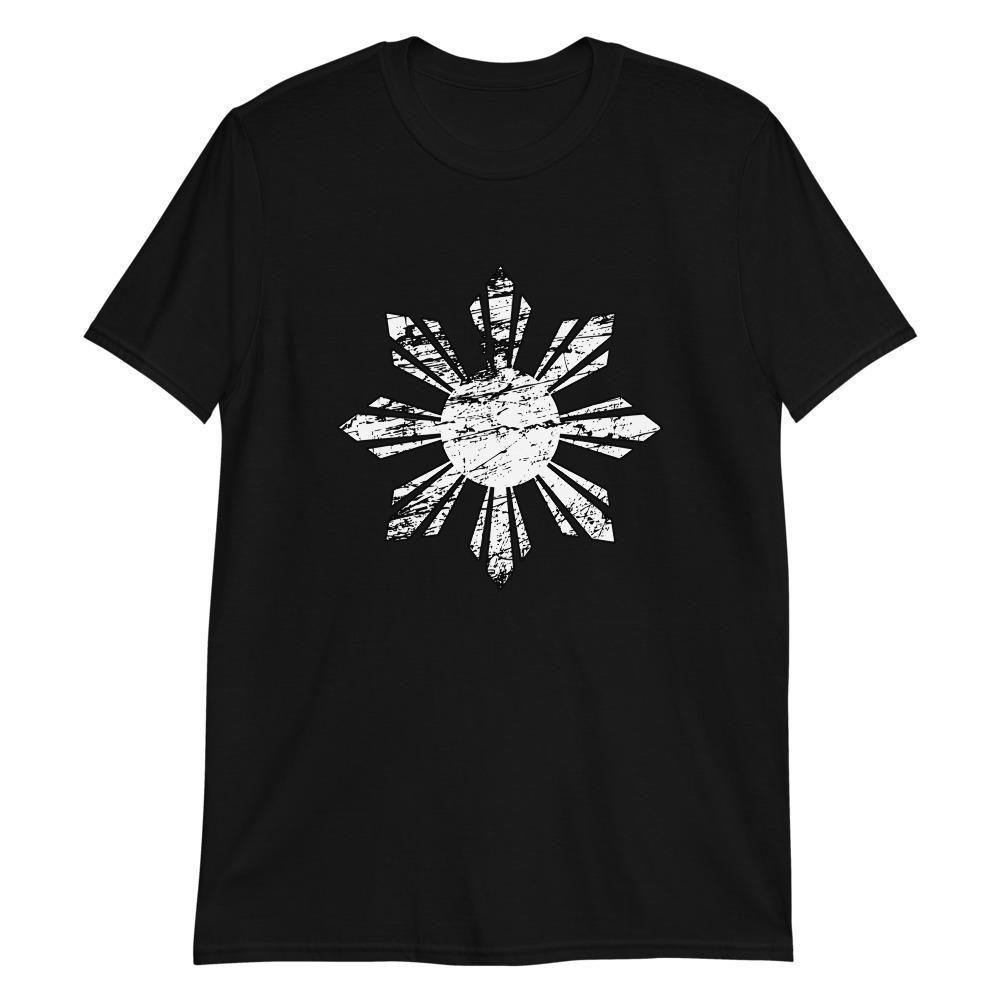 20 White Philippine Sun Distressed Filipino Shirt   L