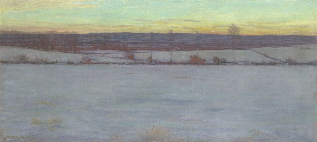 Dwight William Tryon An American Landscape Painter In The Late 19th And Early 20th Centuries Winter Painting American Impressionism Painting Snow