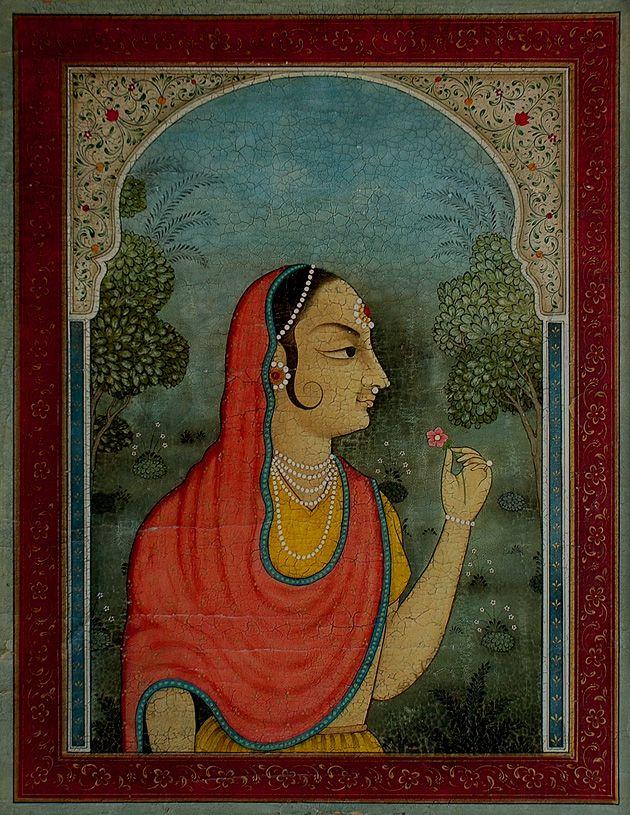 Indian_queen_rani_portrait.jpg (630×815)