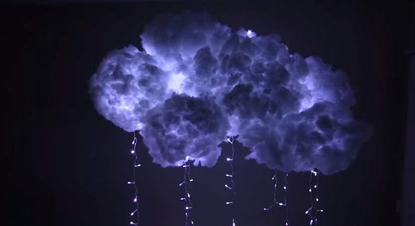 This Diy Cloud Lamp Will Bring A Thunderstorm Right Into Your Bedroom Diy Clouds Cloud Lamp Diy Diy Cloud Light