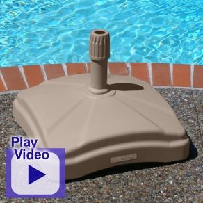 this 125 lb fillable shademobile rolling umbrella stand features