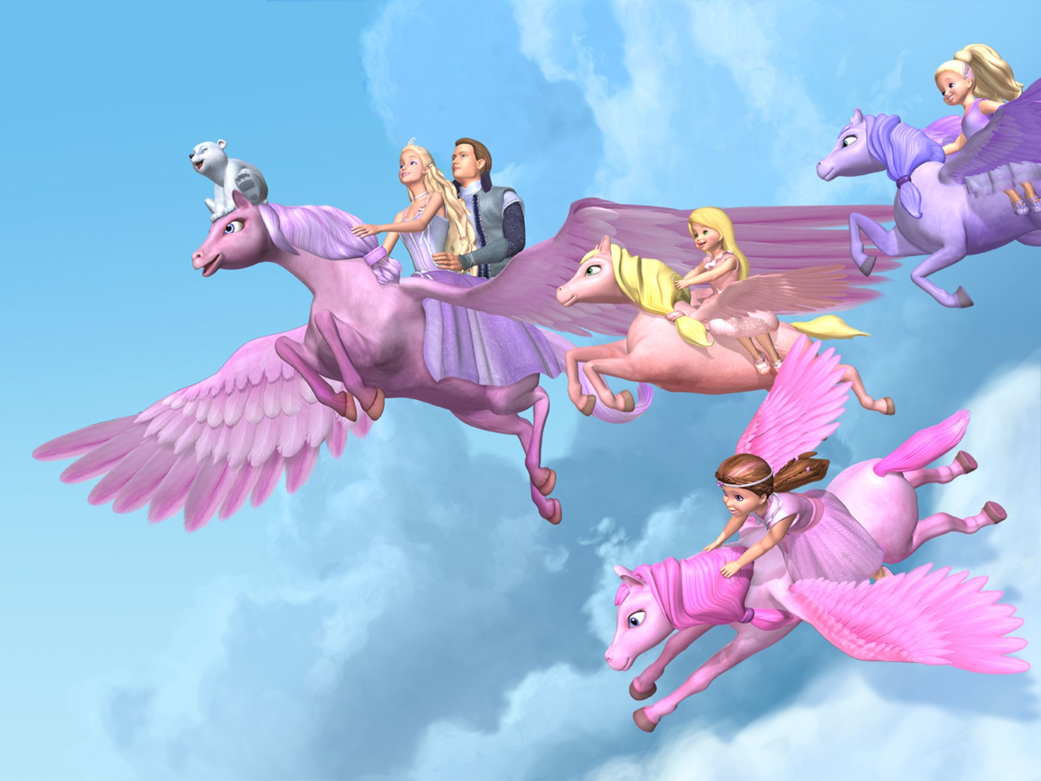 Flying To Home Together Barbie Cartoon Barbie Movies Barbie
