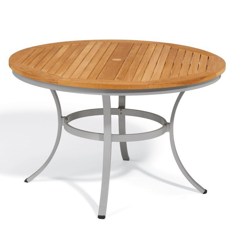 outdoor oxford garden travira tekwood 48 in round patio dining