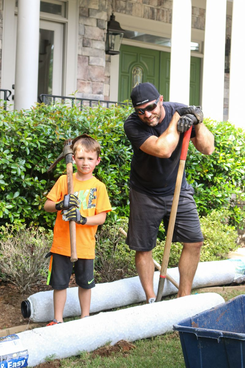 Easy DIY French Drain | Drainage solutions, French drain ...