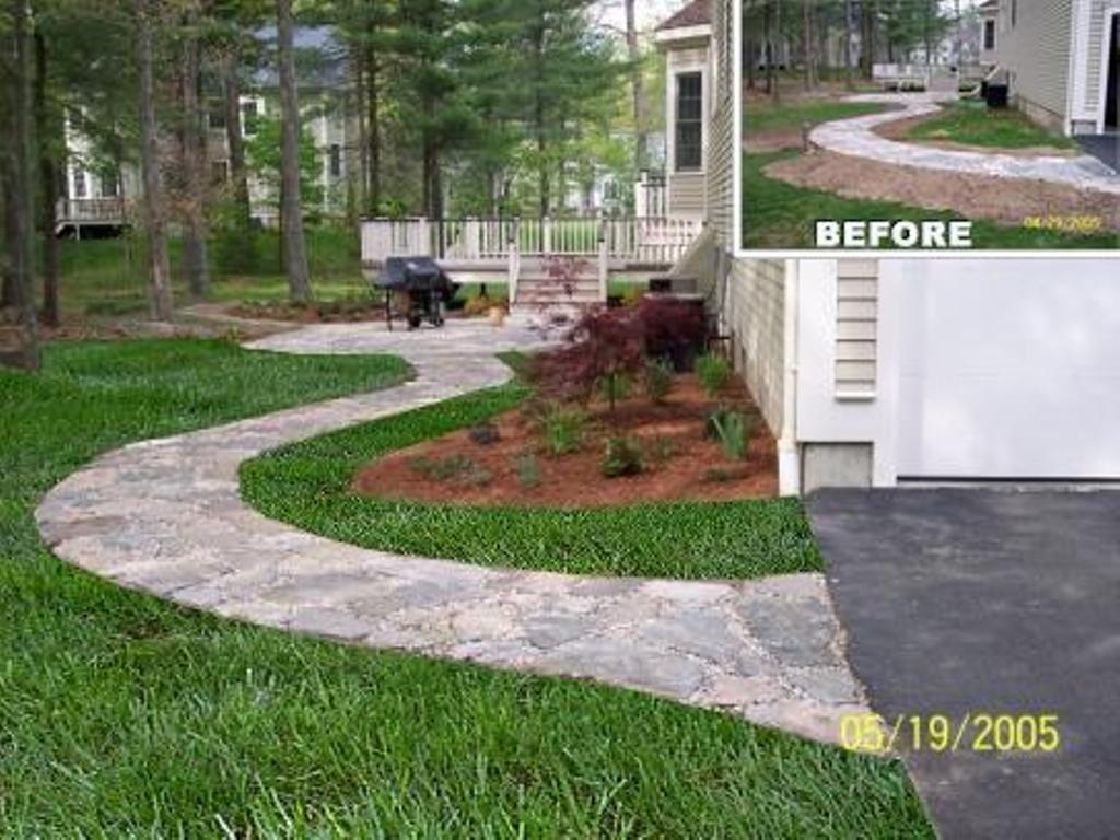 Natural Stone Patio, Walkway, Softscape, Plant Installation   garden ...