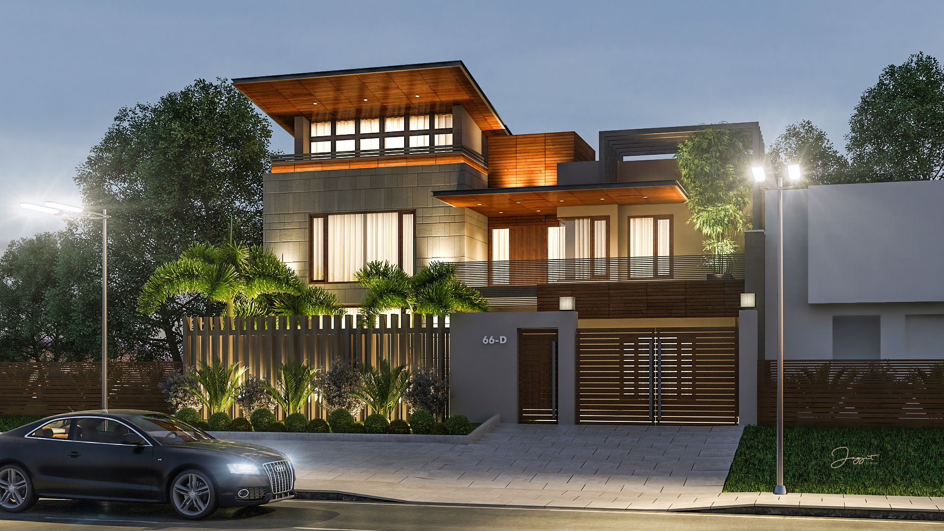 Exterior Design And Render For Client At Model Town, Ludhiana