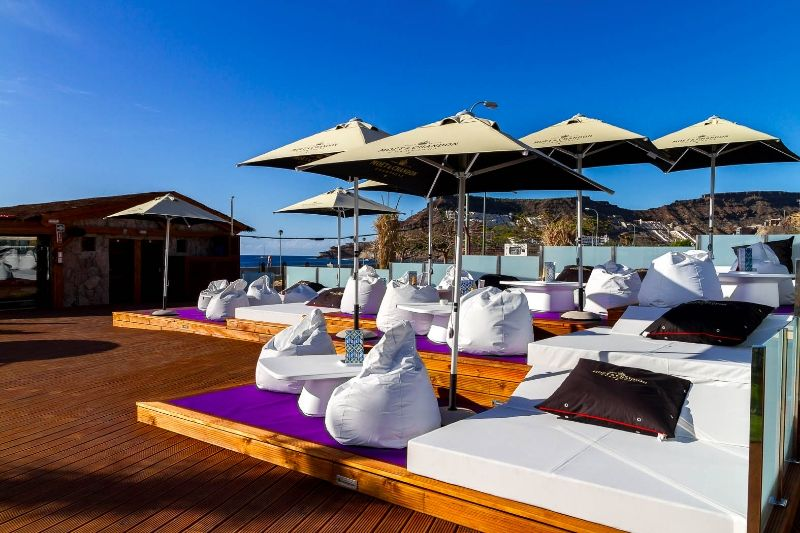 Enjoy A Great Night Lout In Amadores Beach Club Open Also In The Mornings Gran Canaria Spain