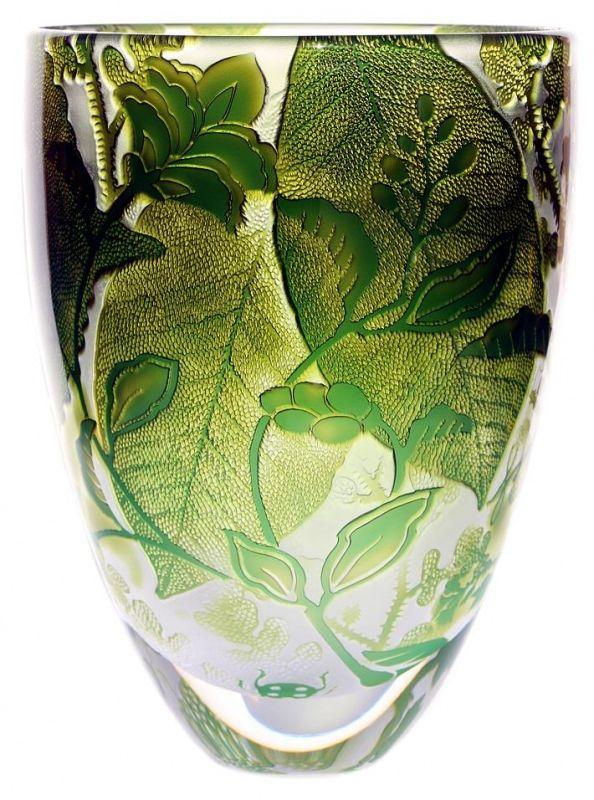 Vibrant Olive & Jade Foliage ~ Jonathan Harris Studio Glass