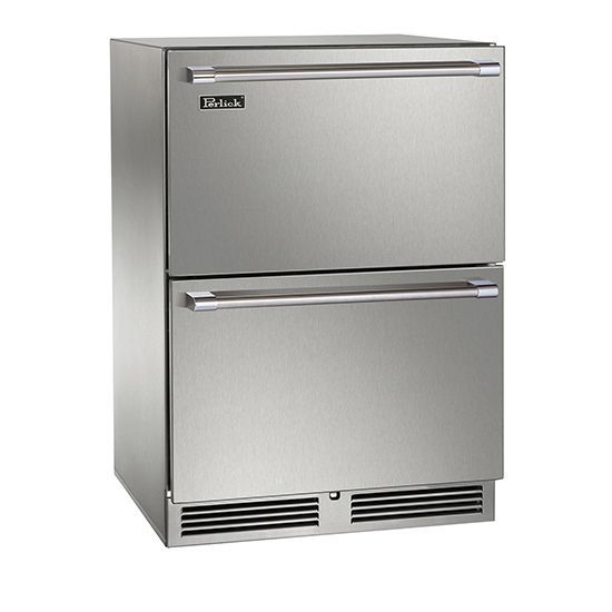 Review Perlick 24 Built in Dual Zone Freezer Refrigerator Drawers Trending - Awesome outdoor kitchen refrigerator In 2019