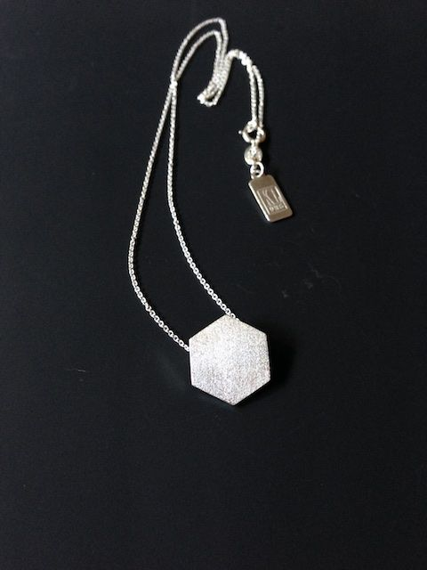 Custom made hexagon silver pendant stitch fix pinterest silver custom made hexagon silver pendant aloadofball