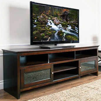"Bryant 72"" Media Console Costco Couch living room"
