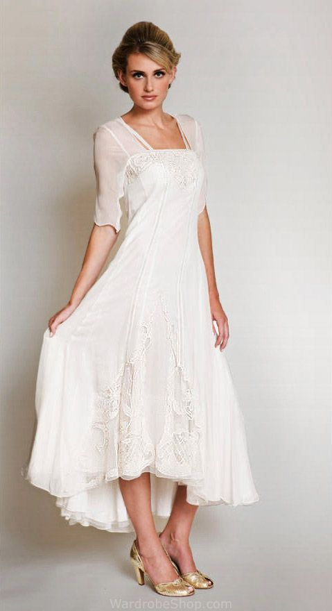wedding dress for older bride informal