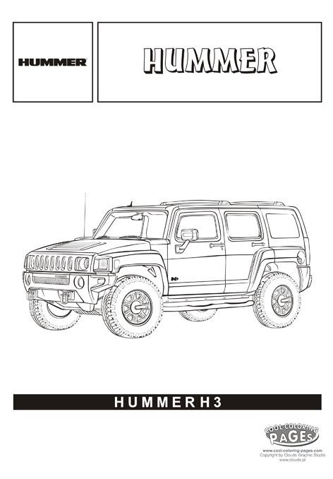 hummer h3 cars coloring pages