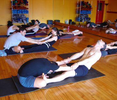 Partner Yoga Pose: Butterfly Pull -  partner yoga stretches  - #Asana #AshtangaYoga #butterfly #IyengarYoga #Namaste #partner #PartnerYoga #pose #Pull #Yoga #YogaGirls #YogaLifestyle