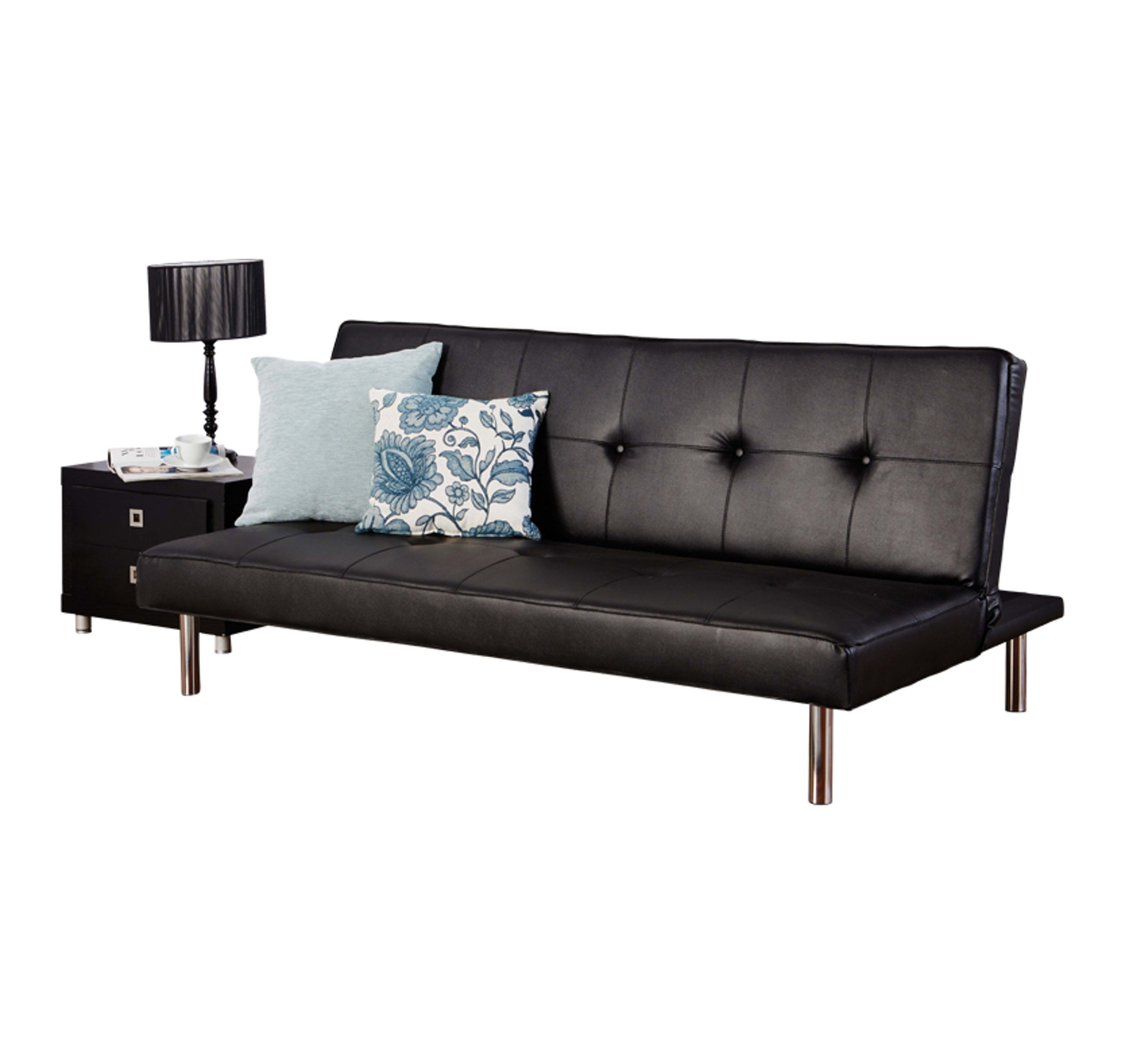 Hearst Faux Leather Three Seater Sofa Bed