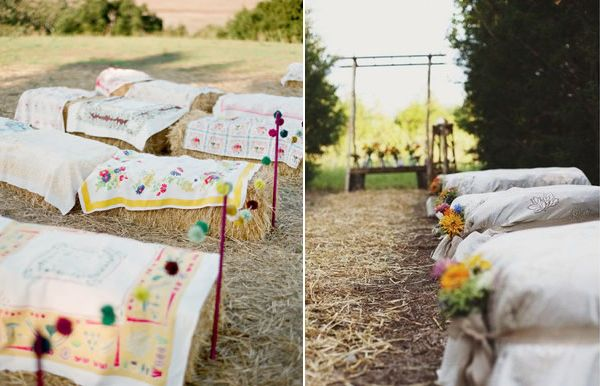 Unique Ceremony Seating Ideas For Outdoor Weddings: 10 Unique Ceremony Seating Ideas