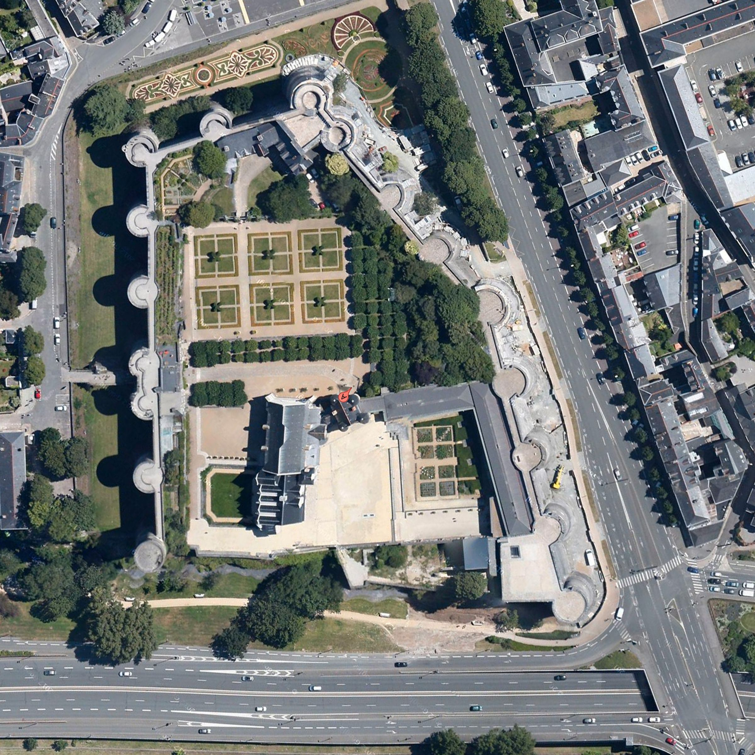 Chateau d Angers aerial photo Loire Valley