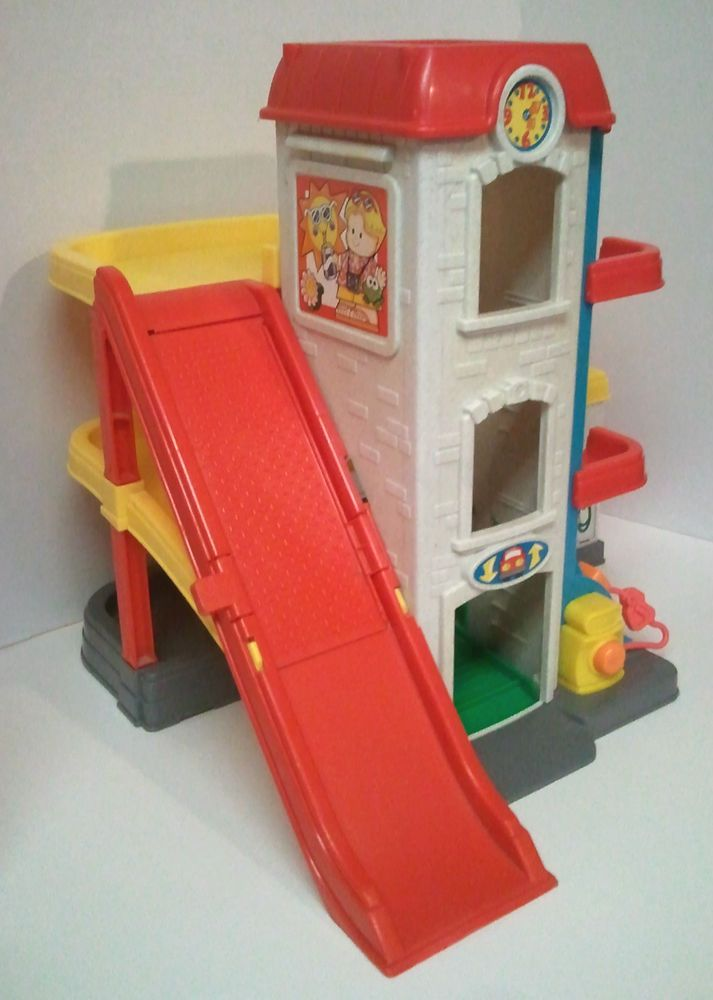 Fisher Price Little People Sounds Multi Station Car Wash Parking Garage Gas Fisherprice Little People Toys Fisher Price Toys