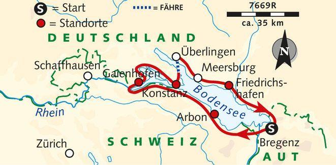 Karte Der Reise 7669r Reisen Radtouren Bahnreisen