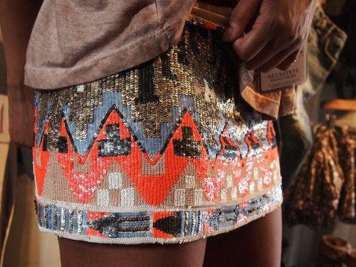 navajo sequin skirt, love it
