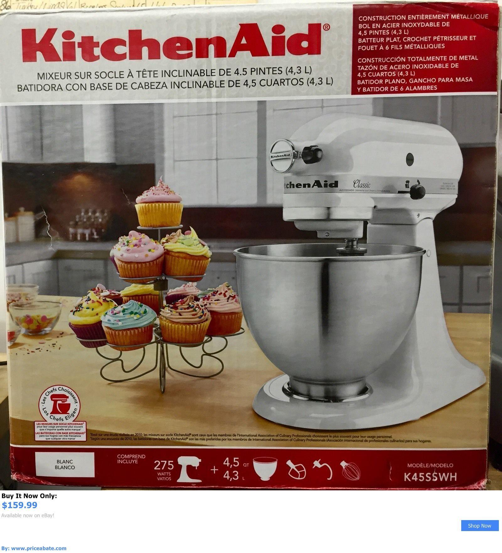 appliances New Kitchen Aid K45ss White 275 Watt 4 1 2 Quart Tilt