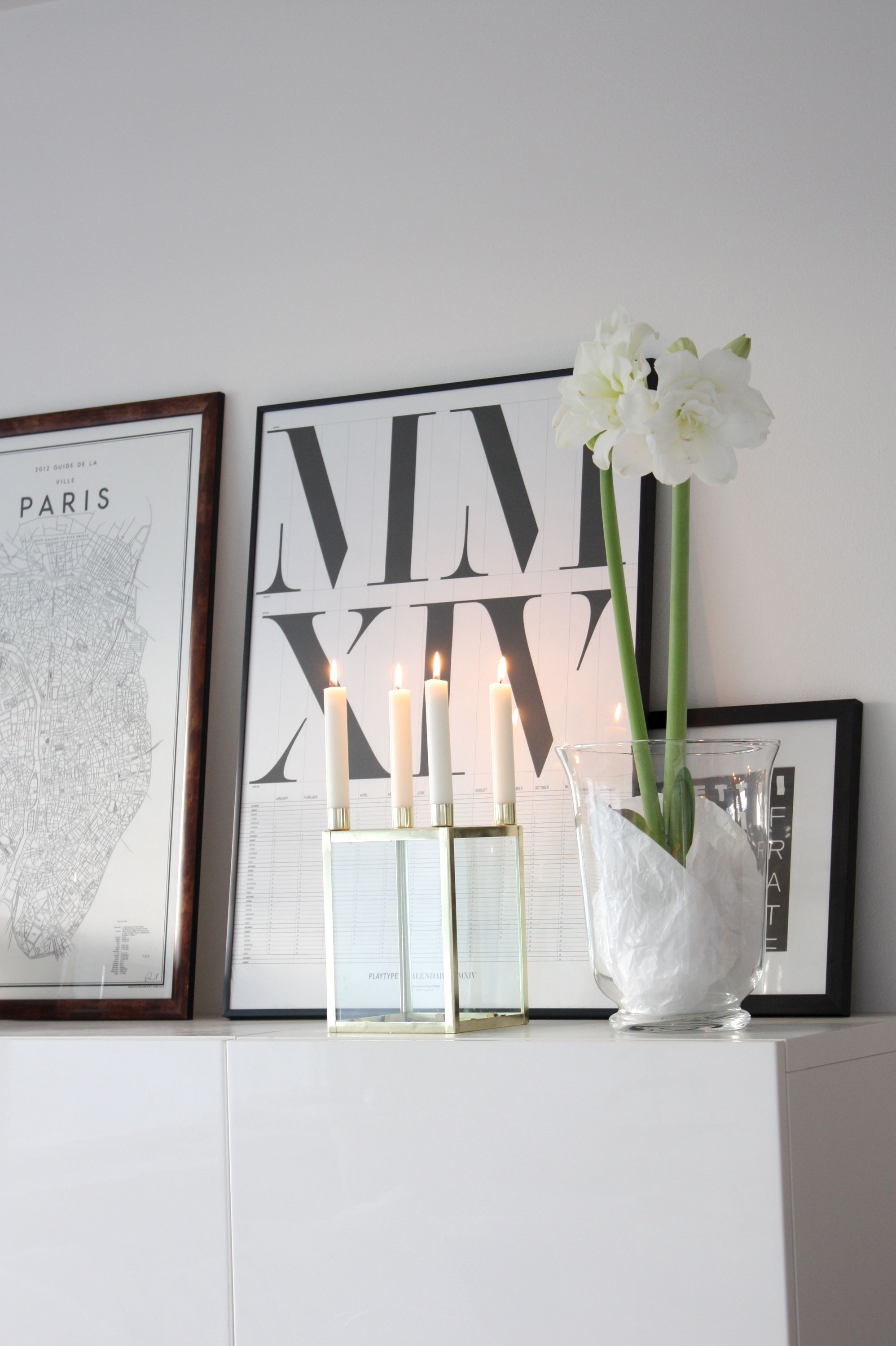 Homevialaura | Fourth advent | Brass candle holder | white christmas ...