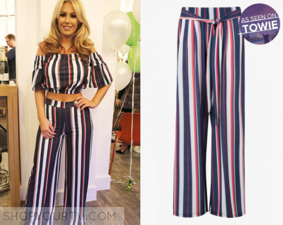 TOWIE  Seaosn 17 Episode 2 Kate s Striped Trousers  6fc115e5b