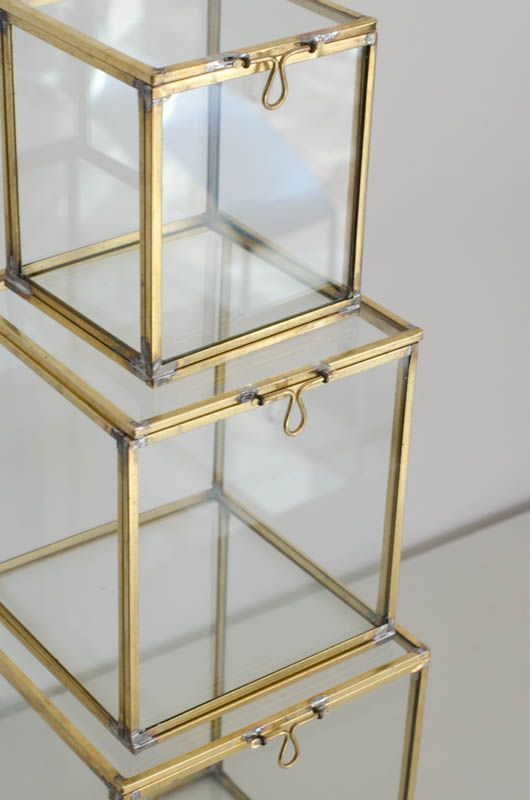 0173234e1df Glass boxes are a great way to display beautiful objects. | Flat ...