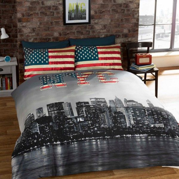 Nyc New York City Single Duvet Kool Rooms For Kool Kids Parure De Lit Housse De Couette Idee Chambre Ado
