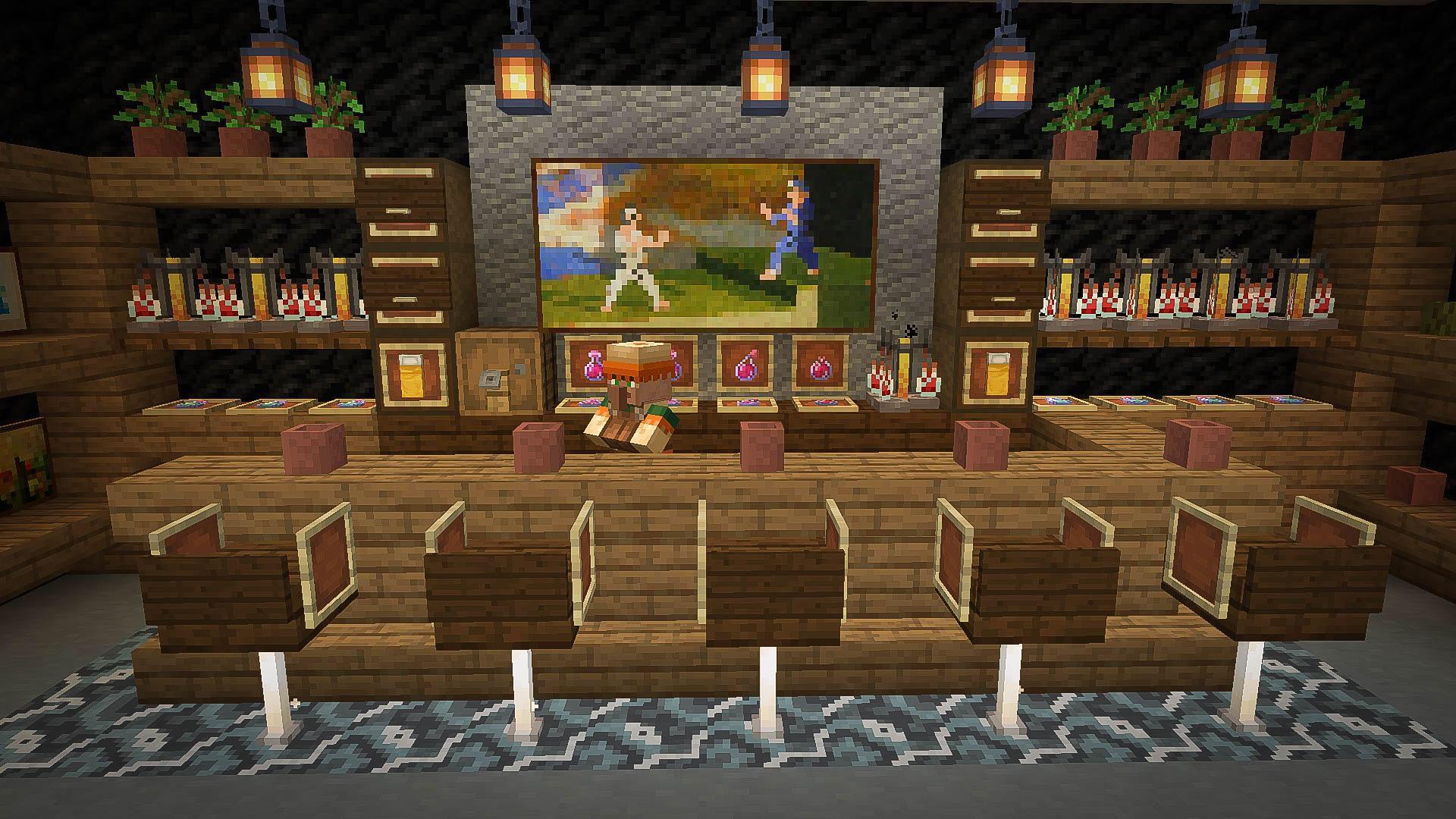 Minecraft Bar Minecraft Decorations Minecraft Room Minecraft Designs