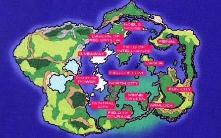 Map of Nede StarOcean 2 Fantasy World Maps
