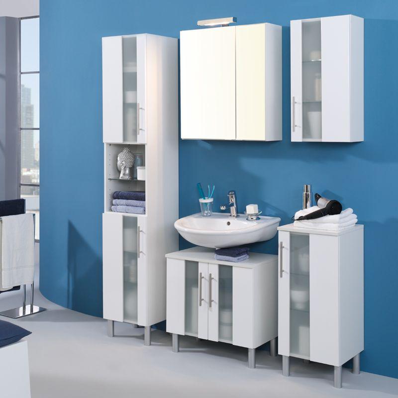 e-combuy Angebote Badmöbel Set »MIAMOS222« Hochglanz, weiß Category - badezimmermöbel aus holz