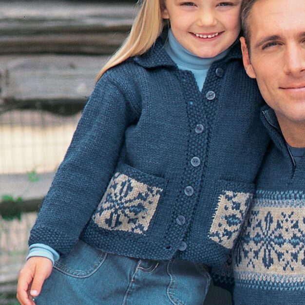 Photo of Patons Child's Snowflake Sweater, 4 Yrs
