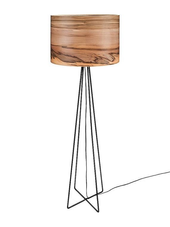 Floor Lamp Wooden Lamp Modern Floor Lamp Natural Wood Shade