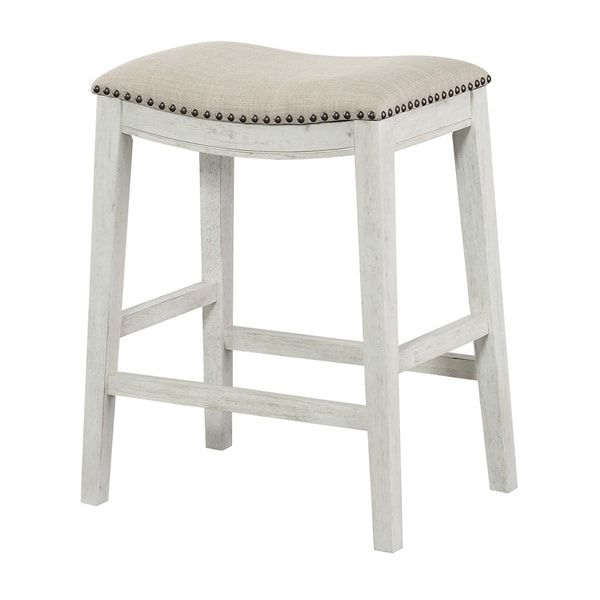 Awesome Antique White Counter Stool