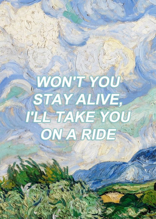 "Lovely Lyrics Twenty One Pilots won't you stay alive, i'll take you on a ride"" lovely, twenty one"