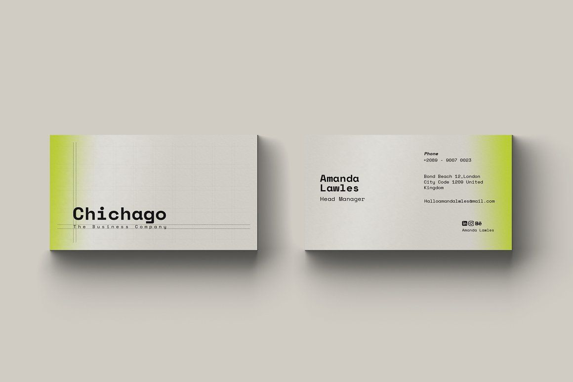 Chichago Business Card Template This Product Is An Elegant Business Card Template It S A Fully C Elegant Business Cards Business Card Template Business Cards