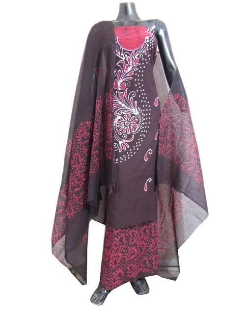 ffe13c4361 Cotton Batik Print Salwar Suit-Pink&Brown | My Style | Salwar suits ...