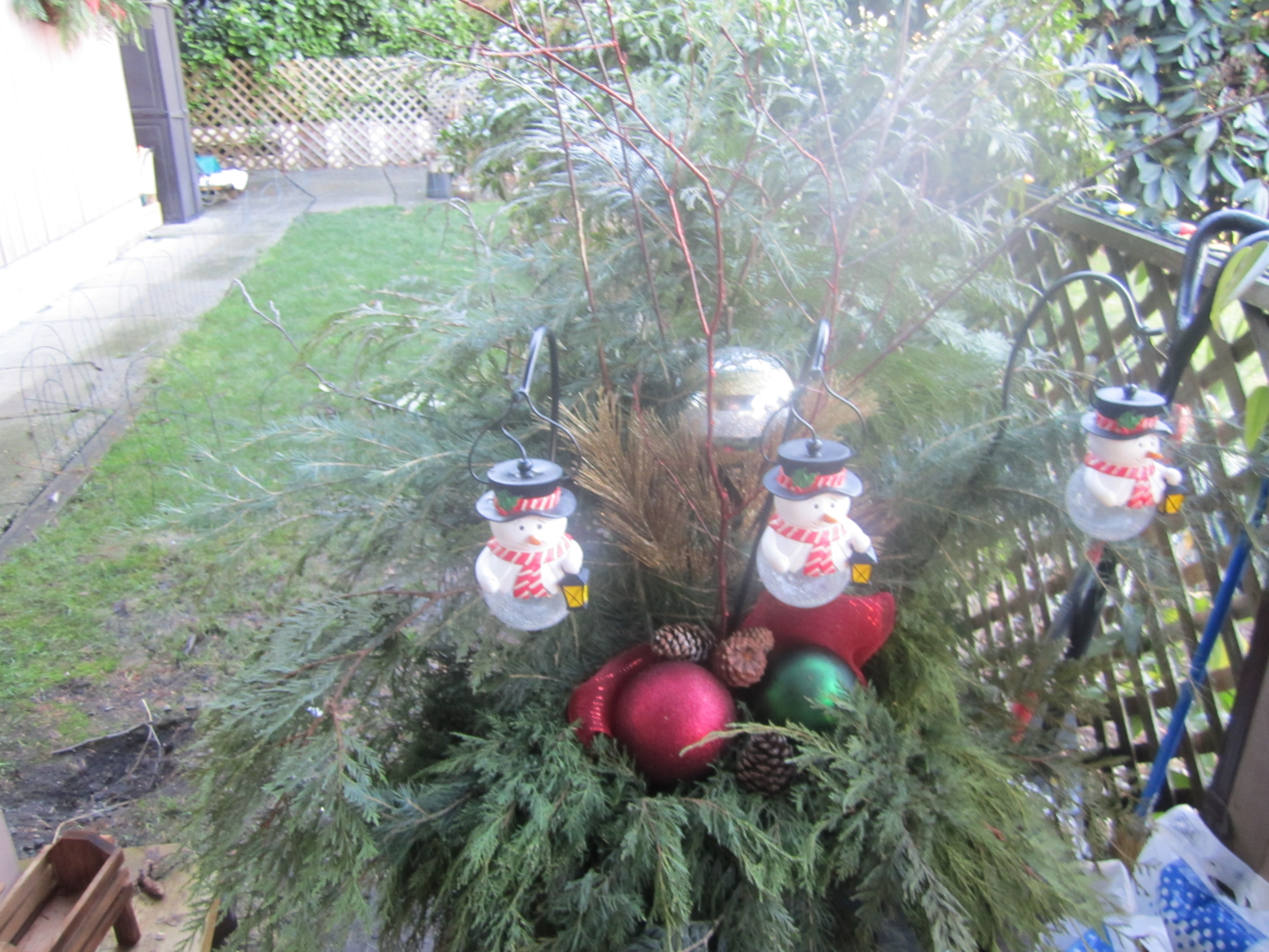 outdoor Christmas planter ideas Christmas Pinterest