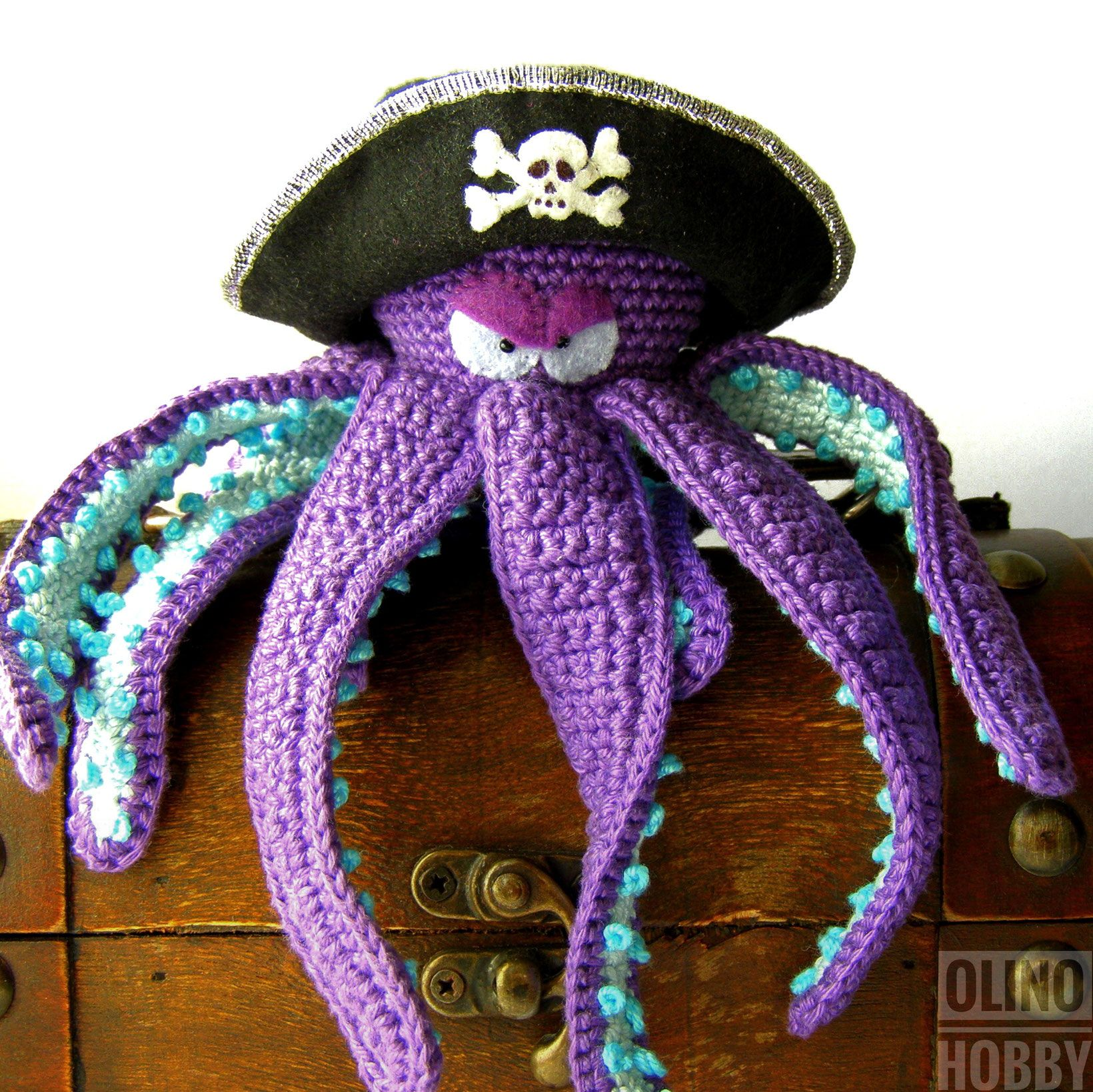 Crochet Octopus Pirate - inspired Pirates of the Caribbean