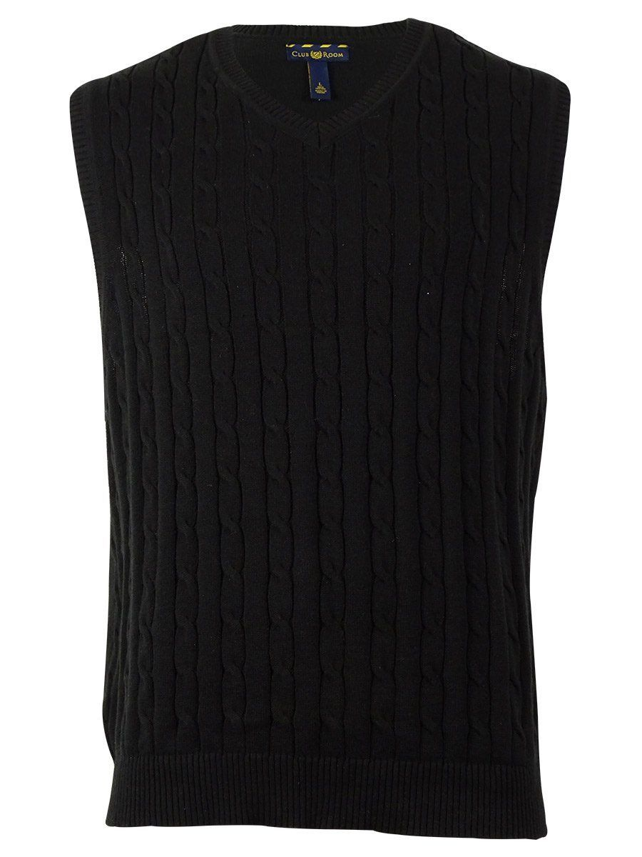 Club Room Men's Cable Knit Sweater Vest | Cable and Products