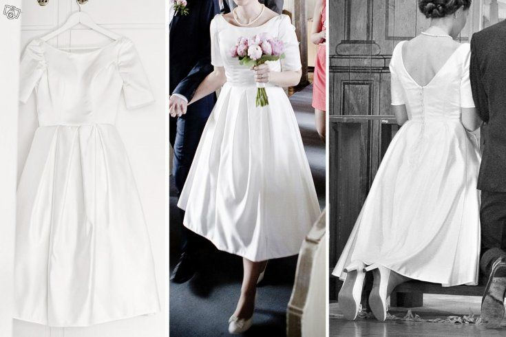 Brudklänning, kortare modell   Stockholm