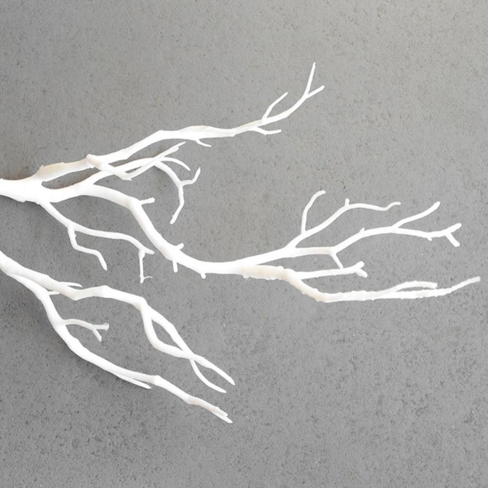 Photo of Small Dried Tree Artificial Branch Plant DIY Craft Wedding Party Home Decor – White