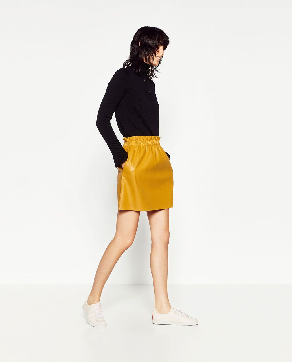 fa16b0a5fff4f3 Image 3 of FAUX LEATHER MINI SKIRT from Zara | Home en 2019 | Jupe ...