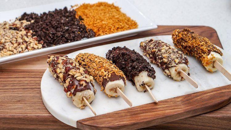 Chocolate Covered Frozen Banana Recipe #frozenbananarecipes Chocolate Covered Frozen Banana Recipe #frozenbananarecipes