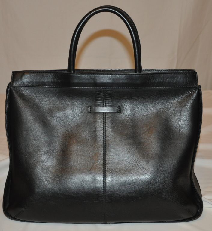 Jean Paul Gaultier black leather tote bag | Jean paul gaultier ...