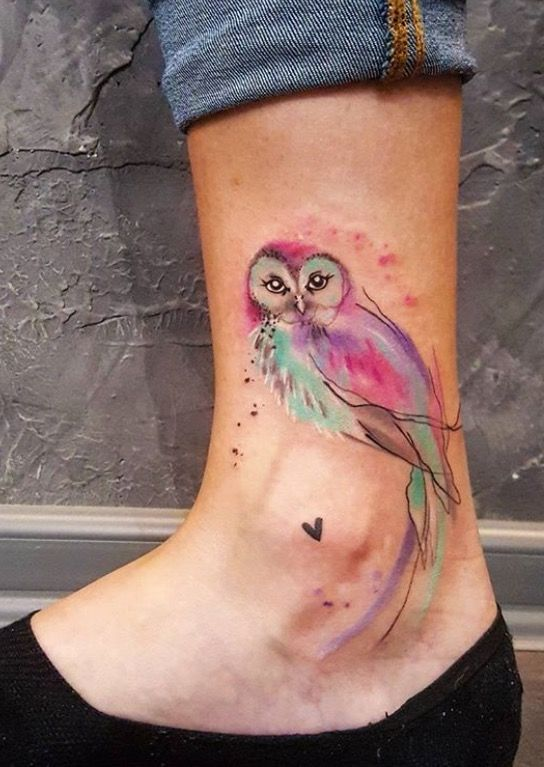 Simona Blanar Owl Tattoo Petit Tatouage Hibou Tatouage