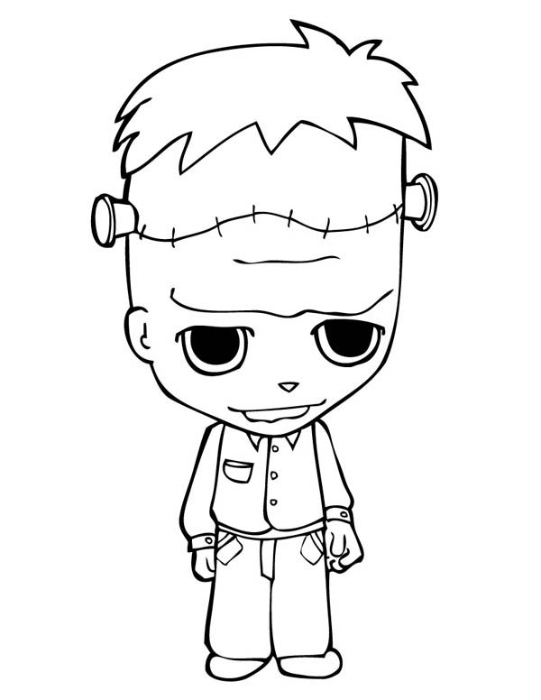 Cute Little Frankenstein Coloring Page Download Print Online Coloring Pages For Free Halloween Coloring Pages Halloween Coloring Free Kids Coloring Pages