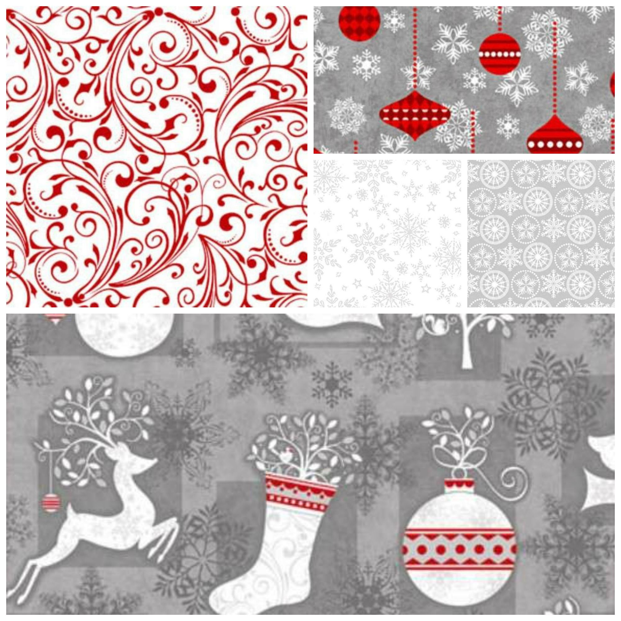 Christmas Quilt Fabric. Holiday Frost collection   Seasonal ... : christmas quilt fabric collections - Adamdwight.com