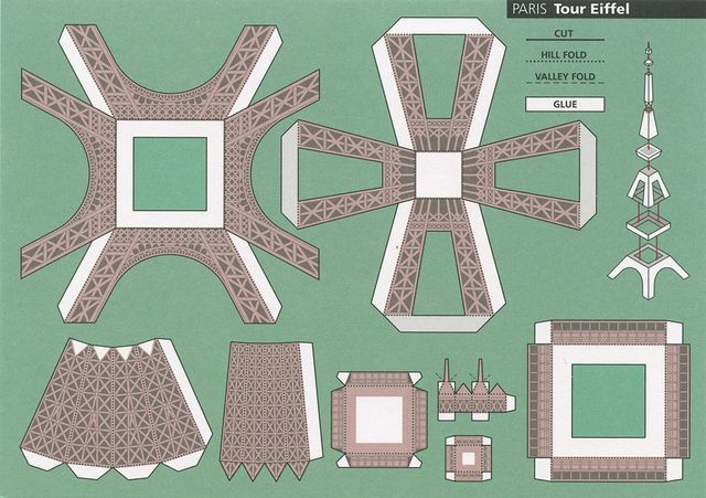 3d paper eiffel tower template invitation templates for Eiffel tower model template